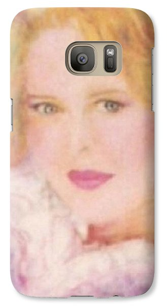Galaxy Case featuring the drawing Sylvia by Denise Fulmer