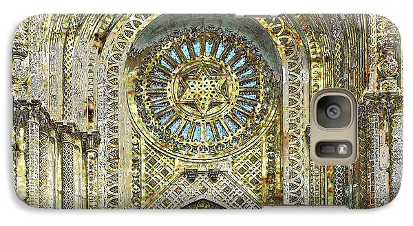 Galaxy Case featuring the mixed media Synagogue by Tony Rubino