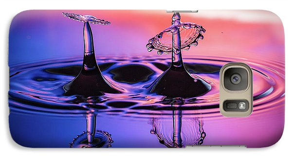 Galaxy Case featuring the photograph Synchronized Liquid Art by William Lee