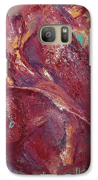 Galaxy Case featuring the painting Syncopation 4 by Mini Arora