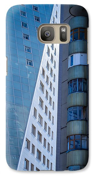 Galaxy Case featuring the photograph Synergy Between Old And New Apartments by John Williams