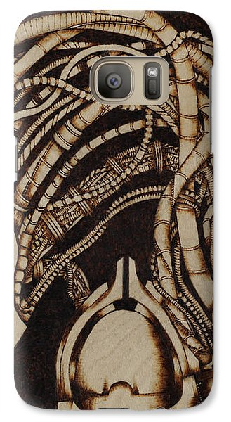 Galaxy Case featuring the pyrography Synth by Jeff DOttavio