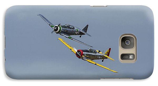 Galaxy Case featuring the photograph T-6 Trainers by Elvira Butler