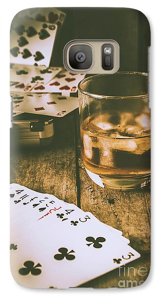 Table Games And The Wild West Saloon  Galaxy S7 Case