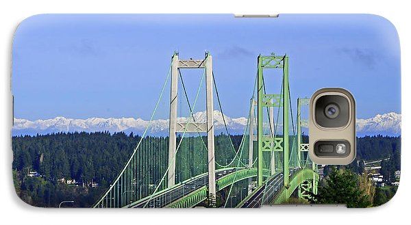 Tacoma Narrows Bridge With Olympic Mountains Galaxy S7 Case