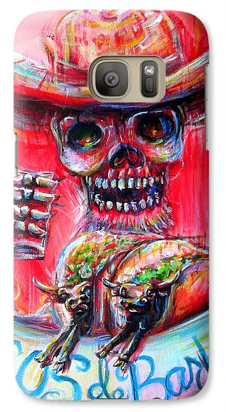 Galaxy Case featuring the painting Tacos De Barbacoa by Heather Calderon