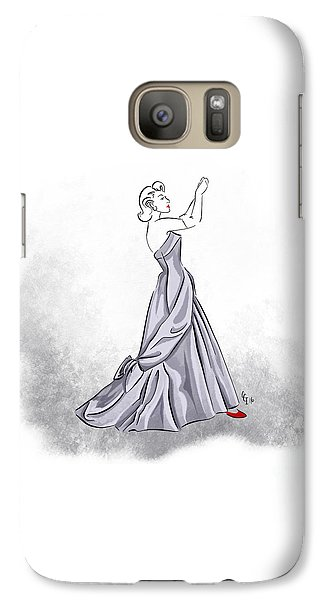 Galaxy Case featuring the digital art Taffeta Gown by Cindy Garber Iverson