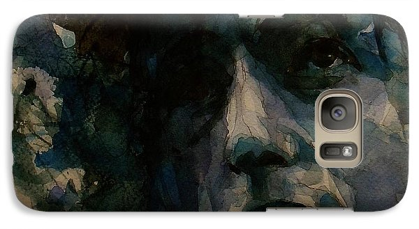 Bob Dylan Galaxy S7 Case - Tagged Up In Blue- Bob Dylan  by Paul Lovering