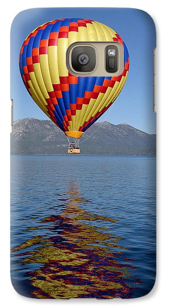 Galaxy Case featuring the photograph Tahoe Balloon. by Mitch Shindelbower