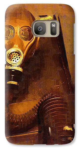 Galaxy Case featuring the painting Tainted by Holly Ethan