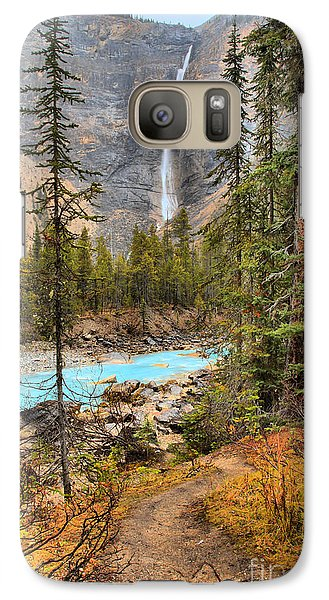 Galaxy Case featuring the photograph Takakkaw Falls Fall Portrait by Adam Jewell
