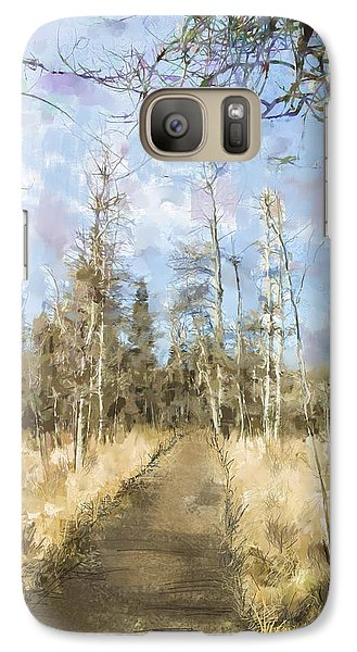 Galaxy Case featuring the painting Take A Walk by Annette Berglund
