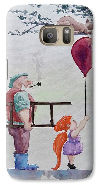 Galaxy Case featuring the painting Take It Please by Geni Gorani