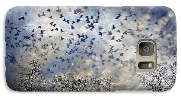 Galaxy Case featuring the photograph Taken Flight by Jan Amiss Photography