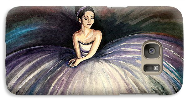 Galaxy Case featuring the painting Taking A Moment by Elizabeth Robinette Tyndall