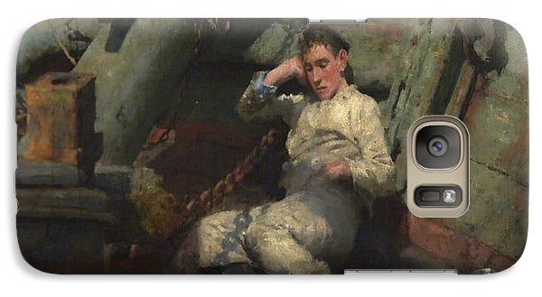 Galaxy Case featuring the painting Taking A Spell  by Henry Scott Tuke