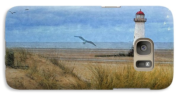 Galaxy Case featuring the digital art Talacre Lighthouse - Wales by Lianne Schneider