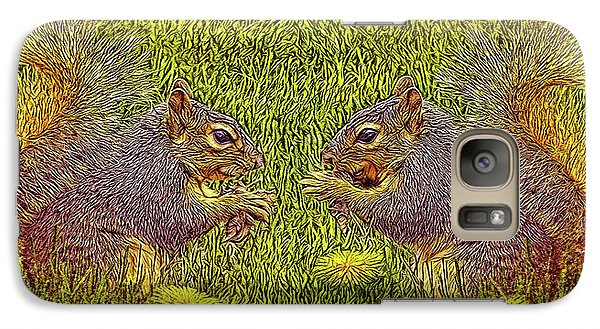 Tale Of Two Squirrels Galaxy S7 Case by Joel Bruce Wallach