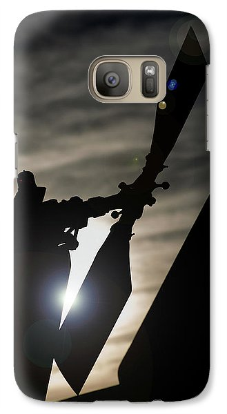Galaxy Case featuring the photograph Tale Sun by Paul Job