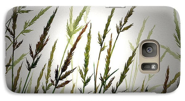 Galaxy Case featuring the digital art Tall Grass And Sunlight by James Williamson