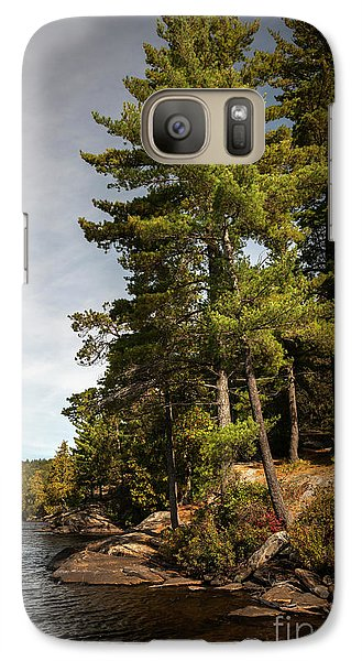 Galaxy Case featuring the photograph Tall Pines On Lake Shore by Elena Elisseeva