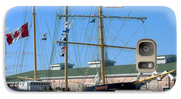 Galaxy Case featuring the photograph Tall Ship Waiting by RC DeWinter