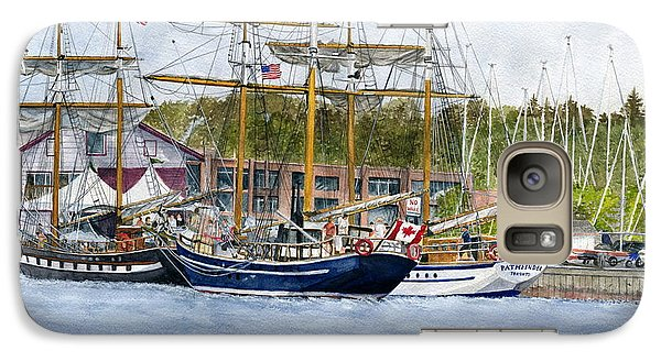 Galaxy Case featuring the painting Tall Ships Festival by Melly Terpening