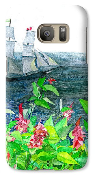 Galaxy Case featuring the painting Tall Ships In Victoria Bc by Eric Samuelson