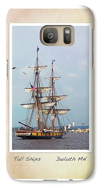 Galaxy Case featuring the photograph Tall Ships V1 by Heidi Hermes