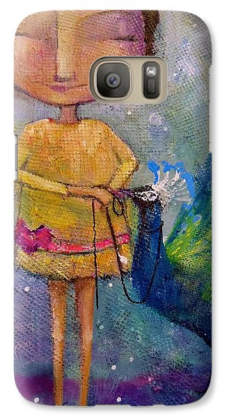Galaxy Case featuring the painting Tame Your Pride by Eleatta Diver