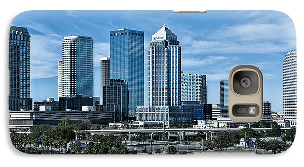 Galaxy Case featuring the photograph Tampa Bay Skyline by Linda Constant