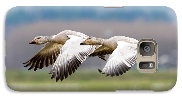 Galaxy Case featuring the photograph Tandem Glide by Mike Dawson