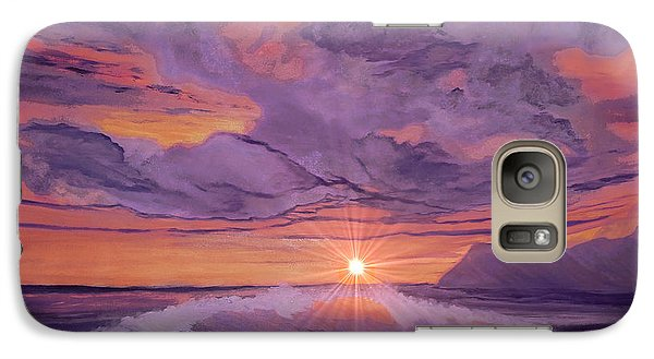 Galaxy Case featuring the painting Tangerine Sky by Holly Martinson