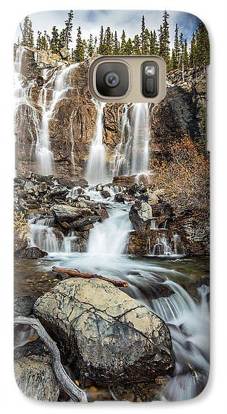Galaxy Case featuring the photograph Tangle Waterfall On The Icefield Parkway by Pierre Leclerc Photography