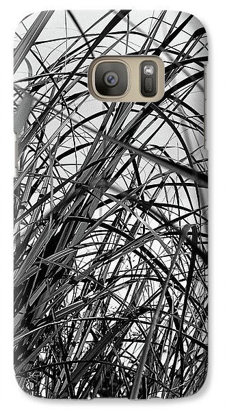 Galaxy Case featuring the photograph Tangled Grass by Susan Capuano