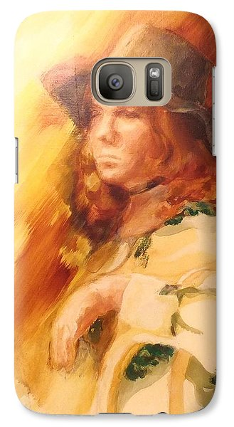Galaxy Case featuring the painting Tangy by Denise Fulmer