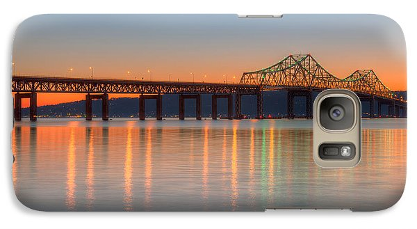 Tappan Zee Bridge After Sunset II Galaxy S7 Case