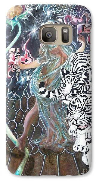 Galaxy Case featuring the painting Tapping The Lifeline by Sigrid Tune