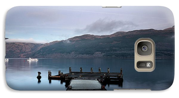 Galaxy Case featuring the photograph Tarbet Twilight by Grant Glendinning