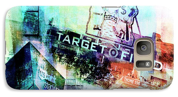 Galaxy Case featuring the digital art Target Field Us Bank Staduim  by Susan Stone