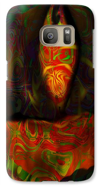 Galaxy Case featuring the painting Tarot Candle by Kevin Caudill