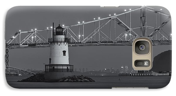 Tarrytown Lighthouse And Tappan Zee Bridge At Twilight II Galaxy S7 Case