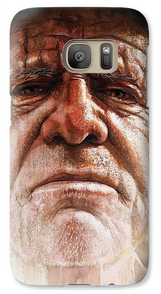 Galaxy Case featuring the painting Tatoos Of A Resilience by J- J- Espinoza
