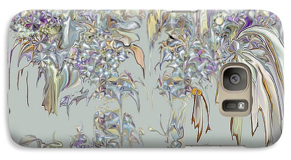 Galaxy Case featuring the digital art Tattered Pieces by Loxi Sibley