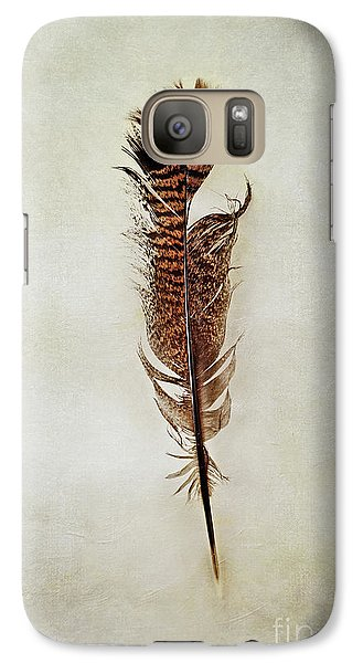 Galaxy Case featuring the photograph Tattered Turkey Feather by Stephanie Frey