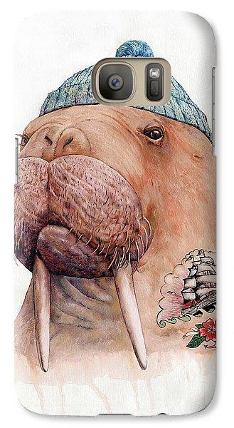 Beach Galaxy S7 Case - Tattooed Walrus by Animal Crew