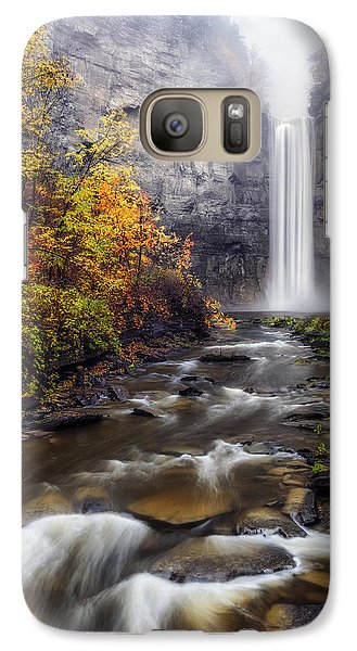 Galaxy Case featuring the photograph Taughannock Fog by Mark Papke