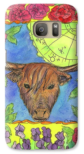 Galaxy Case featuring the painting Taurus by Cathie Richardson