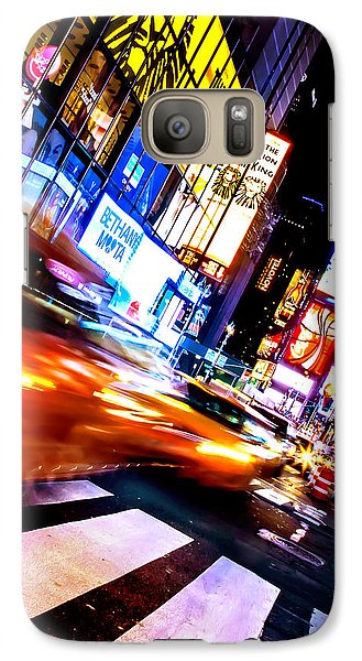 Times Square Galaxy S7 Case - Taxi Square by Az Jackson