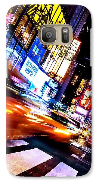 Taxi Square Galaxy Case by Az Jackson